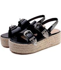 sandalias de cuña de plataforma