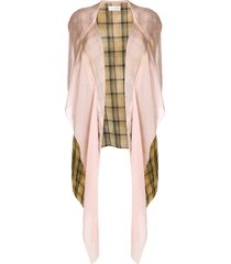 faith connexion draped plaid hooded jacket - green