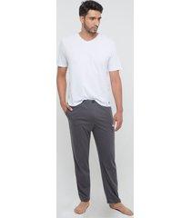pantalón básico de pijama para hombre tono gris gris l