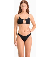 bikinibroekje v-vormig voor dames, zwart, maat l | puma