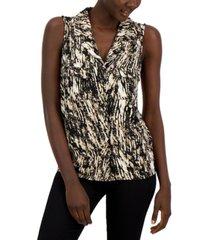 alfani abstract print sleeveless top, created for macy's