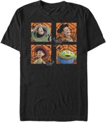 disney pixar men's toy story halloween four square web short sleeve t-shirt