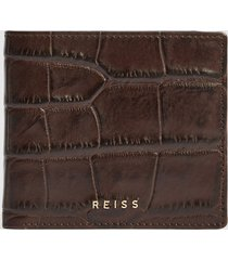 reiss cabot - leather wallet in chocolate, mens