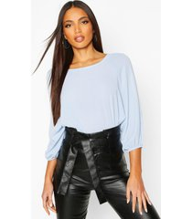 batwing sleeve blouse, pale blue