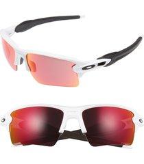 oakley flak 2.0 xl 59mm sunglasses - white