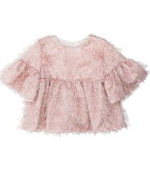 organza top with fringes