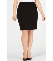 calvin klein plus size soft crepe pencil skirt