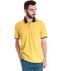 camisa polo masculina manga curta 348039 amarelo