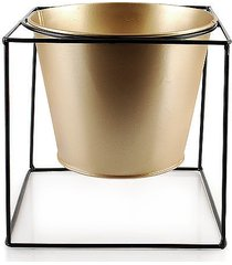 kwietnik osłonka metalowa gold l