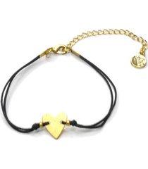 pulsera de mujer dorada corazón brass colection by vestopazzo