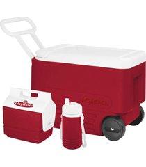 caixa térmica 6 litros igloo cooler wheelie cool 38 qt vermelho