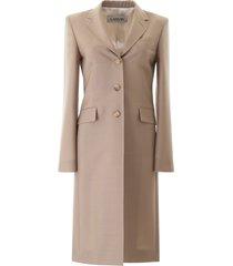 lanvin tailored coat