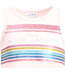 little marc jacobs pink tank for girl with logo