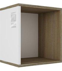 cubo aberto no stress basic carvalho e branco brv móveis