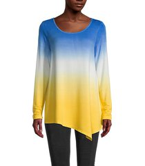 asymmetric dip-dye pullover