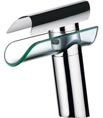 misturador monocomando de mesa para lavatório lorenfall cromado