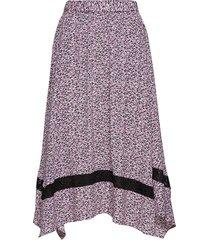 aida skirt knälång kjol lila just female