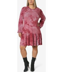 ultra flirt trendy plus size tie-dyed dress