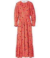 lange jurk met print 'c flower'