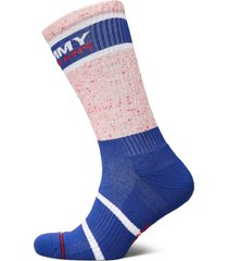 th unisex tommy jeans sock 1p melan lingerie socks regular socks blå tommy hilfiger
