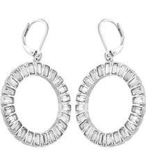 t tahari holiday sparkle front facing hoop earring