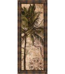 "classy art exotic destination i by katrina craven framed print wall art - 18"" x 42"""