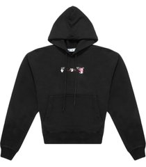 off-white acrylic arrow over hoodie