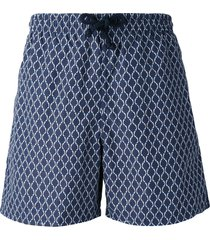 fashion clinic timeless printed swim shorts - blue