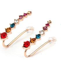 orecchini a chiodo di strass cristallo