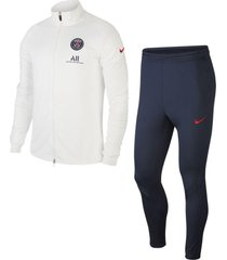 nike paris saint germain trainingspak 2020-2021 white