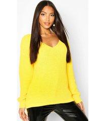 oversized v neck sweater, bright yellow