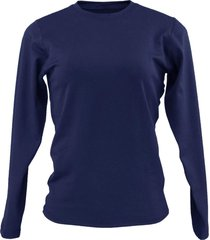 blusa tã©rmica feminina segunda pele thermo premium lite slim fit - azul marinho - feminino - poliã©ster - dafiti