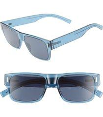 men's dior fraction4 54mm rectangular sunglasses -