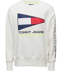 tjm 90s sailing logo crew sweat-shirt trui wit tommy jeans