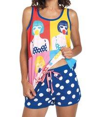 pyjama's / nachthemden admas pyjama shorts tank top pop santoro