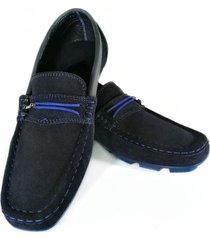 mocasín cuero azul fasucol dimitry tc021