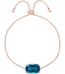 effy blue topaz bolo bracelet (4-3/8 ct. t.w.) in 14k rose gold