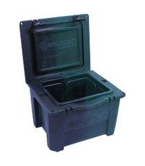 caixa térmica cooler 15 litros verde e preto brudden náutica