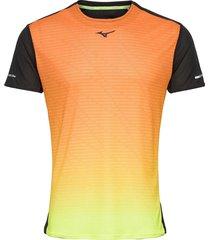 aero tee t-shirts short-sleeved svart mizuno