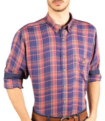 camisa manga larga cuadros roja ref. 114011119
