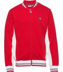 men settanta track jacket sweat-shirt trui rood fila