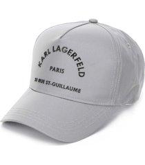 karl lagerfeld rue st guillaume baseball cap - silver