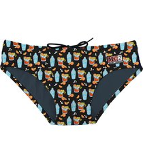 swim brief micro negroni drink print