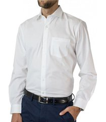 camisa cuello semi italiano algodón easy iron mcgregor