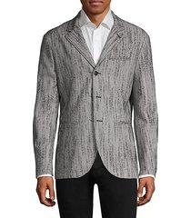 easy-fit wool-blend blazer jacket