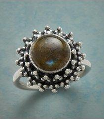 beadburst labradorite ring