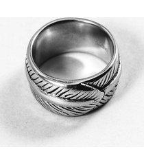anillo gris diesel pluma