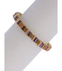 mosaic bead cuff bracelet