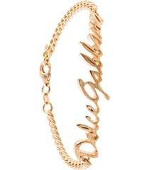 dolce & gabbana bracelete signature - dourado