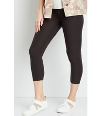 maurices womens high rise gray ultra soft capri leggings